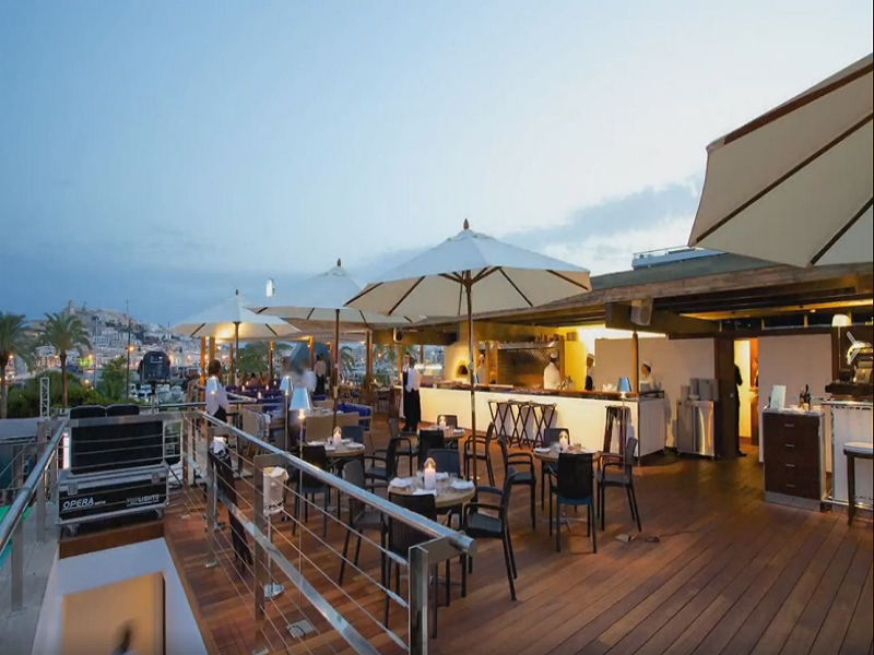 Terrace Restaurant Downtown Cipriani Ibiza