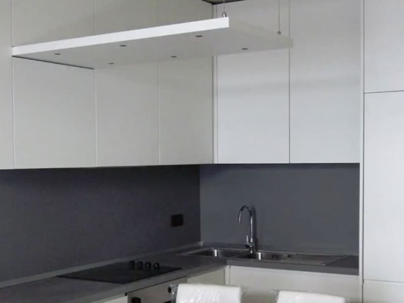 White kitchen in Milan